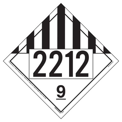 2212 Placard - Class 9 Miscellaneous (09495)