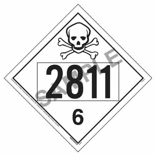 2811 Placard - Division 6.1 Poison (09490)