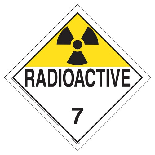 Class 7 Radioactive Placard - Worded (02419)