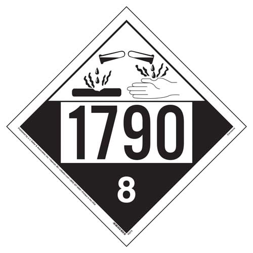 1790 Placard - Class 8 Corrosive (09491)