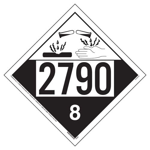 2790 Placard - Class 8 Corrosive (09492)