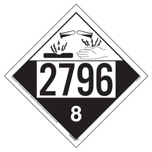 2796 Placard - Class 8 Corrosive (01698)