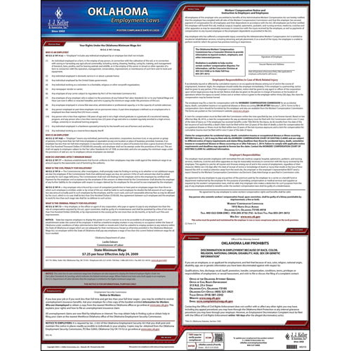 2020 Oklahoma & Federal Labor Law Posters (03961)