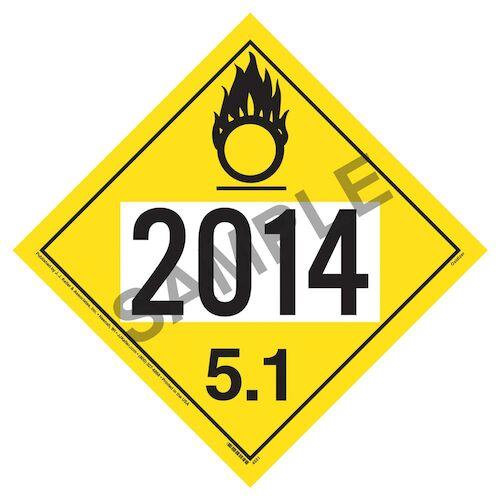2014 Placard - Division 5.1 Oxidizer (02240)