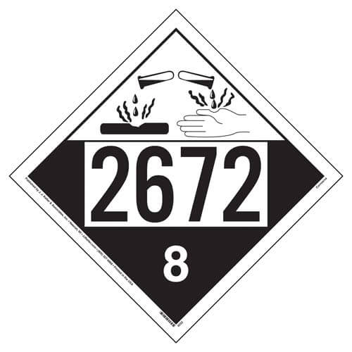 2672 Placard - Class 8 Corrosive (02242)