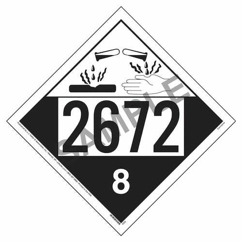 2672 Placard - Class 8 Corrosive (02242)