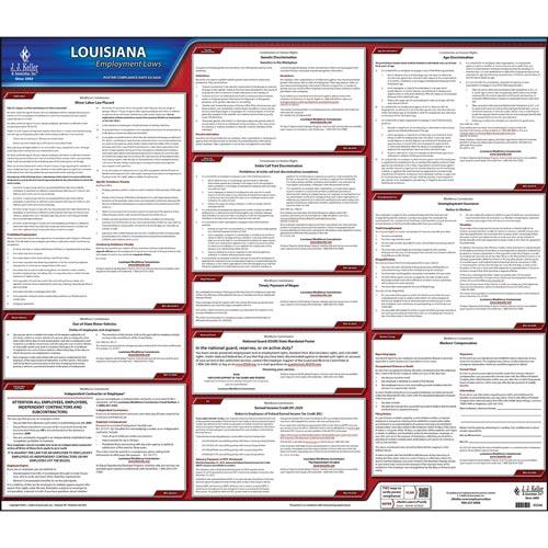 2020 Louisiana & Federal Labor Law Posters (03990)