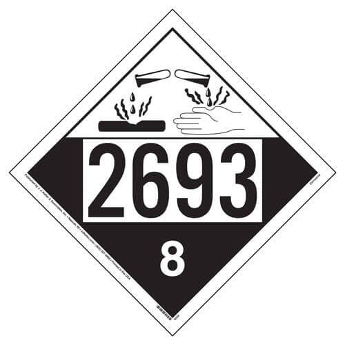 2693 Placard - Class 8 Corrosive (02245)