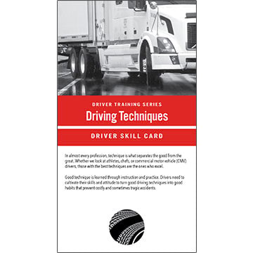 Driving Techniques: Driver Training Series - Driver Skills Cards (010513)
