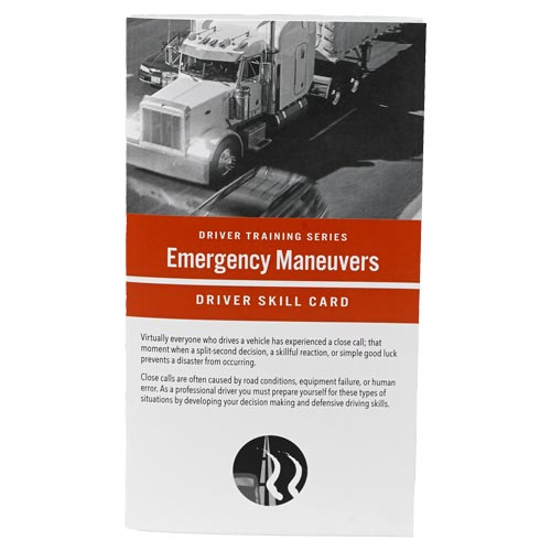 Emergency Maneuvers: Driver Training Series - Driver Skills Cards (010507)