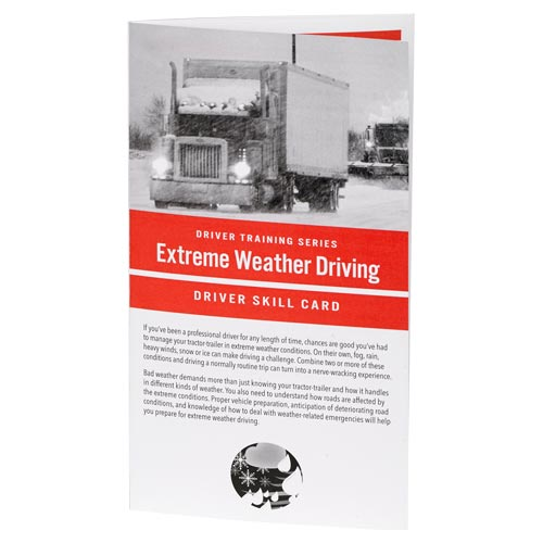 Extreme Weather: Driver Training Series - Driver Skills Cards (010509)