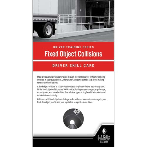 Fixed Object Collisions: Driver Training Series - Driver Skills Cards (010515)