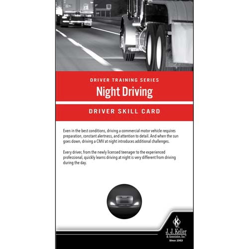 Night Driving: Driver Training Series - Driver Skills Cards (010517)