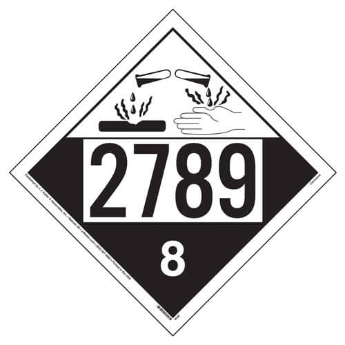 2789 Placard - Class 8 Corrosive (01700)