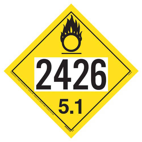 2426 Placard - Division 5.1 Oxidizer (01701)