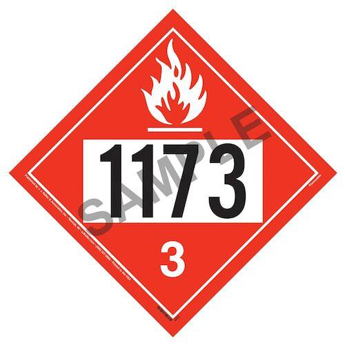 1173 Placard - Class 3 Flammable Liquid (01703)