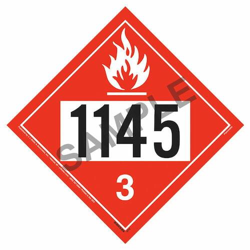 1145 Placard - Class 3 Flammable Liquid (01705)