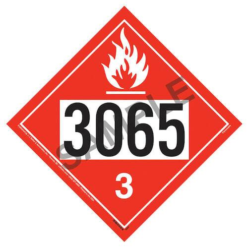 3065 Placard - Class 3 Flammable Liquid (01708)