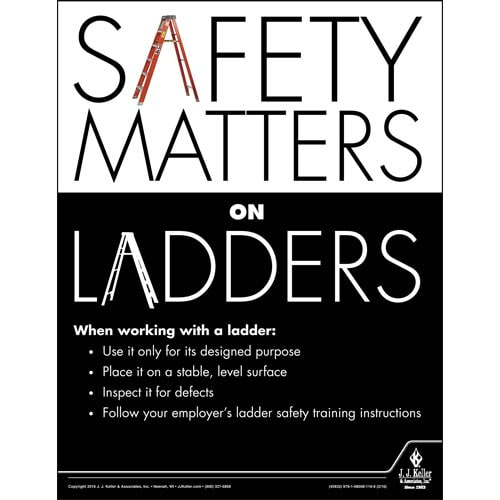 Safety Matters on Ladders - Construction Safety Poster (09594)