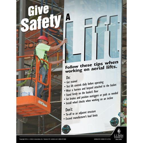 Give Safety A Lift - Construction Safety Poster (09599)