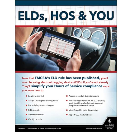 ELDs - Driver Awareness Safety Poster (09611)