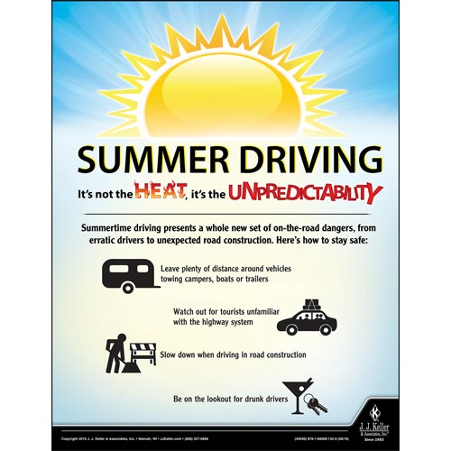Summer Driving - Driver Awareness Safety Poster (09614)