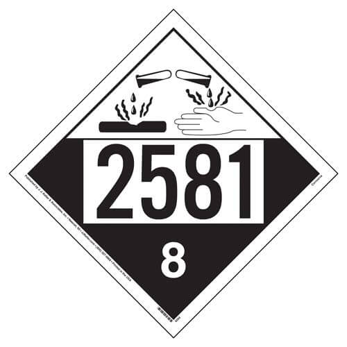2581 Placard - Class 8 Corrosive (02254)