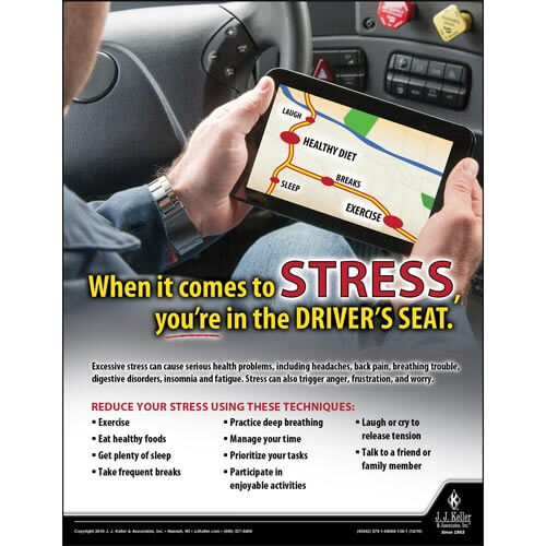 Stress - Driver Awareness Safety Poster (09620)