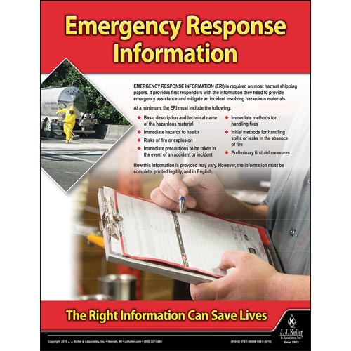 Emergency Response - Hazmat Transportation Poster (09631)