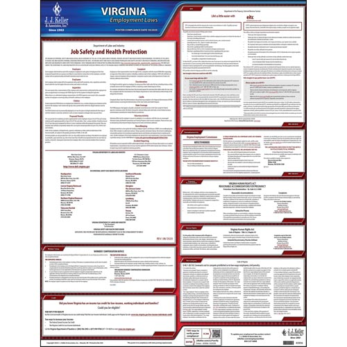 Virginia & Federal Labor Law Posters (03966)