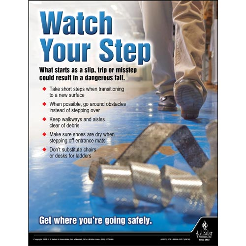 Watch Your Step - Workplace Safety Advisor Poster (09646)