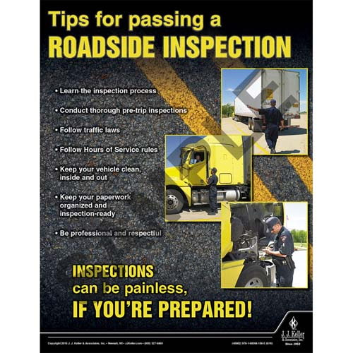 Tips for passing a Roadside Inspection- Motor Carrier Safety Poster (09656)