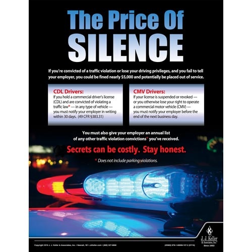 The Price Of Silence - Motor Carrier Safety Poster (09657)