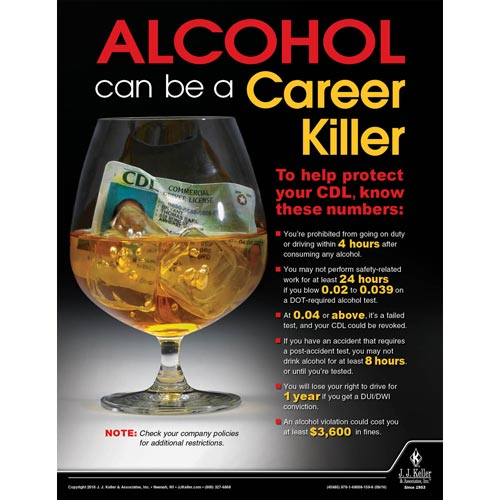 Alcohol - Motor Carrier Safety Poster (09659)