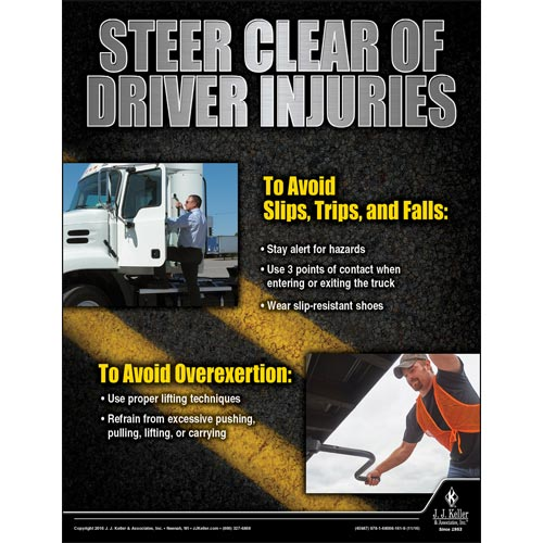 Steer Clear Of Driver Injuries - Motor Carrier Safety Poster (09661)