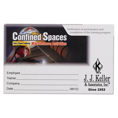 Confined Spaces: Entry Team Training – Maintenance Activities - Wallet Cards (09778)