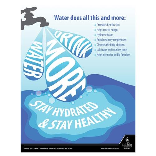 Drink More Water - Health & Wellness Awareness Poster (09706)