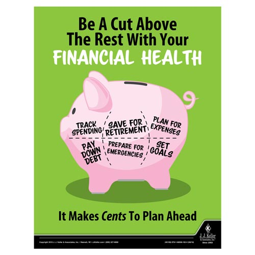Financial Health - Health & Wellness Awareness Poster (09707)