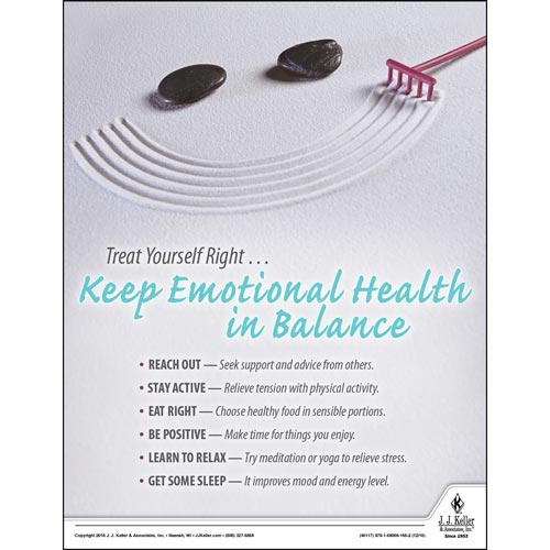 Keep Emotional Health In Balance - Health & Wellness Awareness Poster (09711)