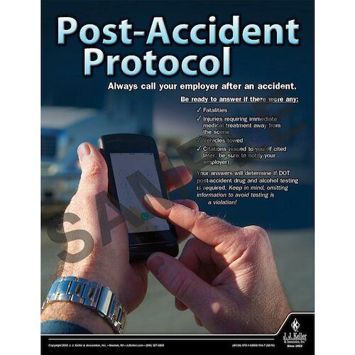 Post-Accident Protocol - Transportation Safety Risk Poster (09719)