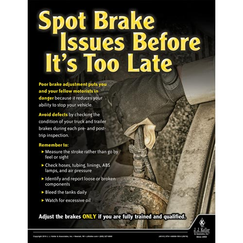 Brake Issues - Transportation Safety Risk Poster (09720)