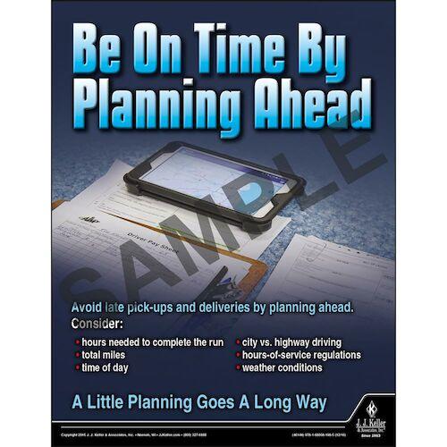 Be On Time - Transportation Safety Risk Poster (09723)