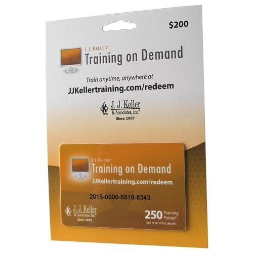 Training On Demand Points Card (010181)