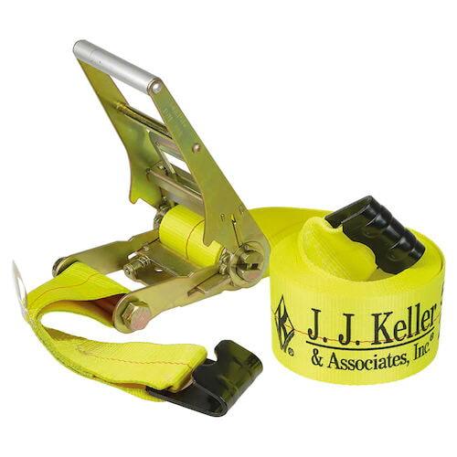 """J. J. Keller® 4"""" Wide Ratchet Strap w/Flat Hooks (09802)"""