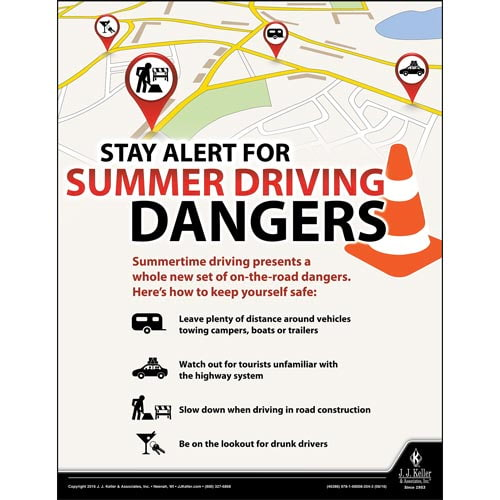 Stay Alert - Transportation Safety Poster (09729)