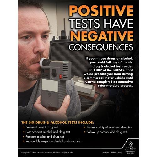 Positive Tests - Transportation Safety Poster (09732)