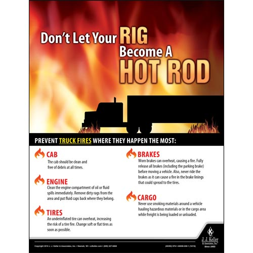 Don't Let Your Rig Become A Hot Rod - Transportation Safety Poster (09733)