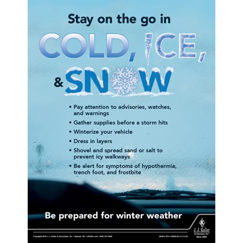 Cold, Ice, & Snow - Workplace Safety Training Poster (09749)