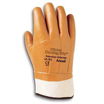 Ansell Winter Monkey Grip® 23-193 Insulated Gloves (011171)