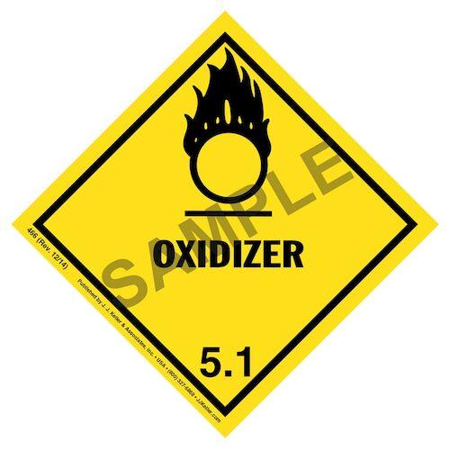 Class 5 Oxidizer Labels (00945)